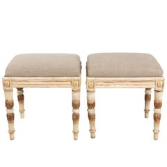 Pair of Painted Gustavian Benches