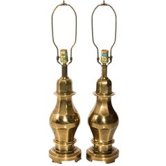 Pair of Midcentury Brass Urn Lamps