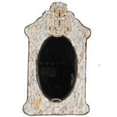 Early 19th Century Hand-Carved European Bone Mirror