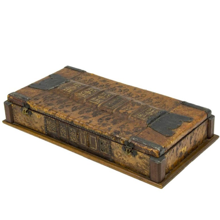 Vintage Leather and Decorative Bound Box
