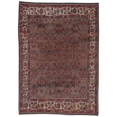 Early 20th Century Distressed Mahal Rug