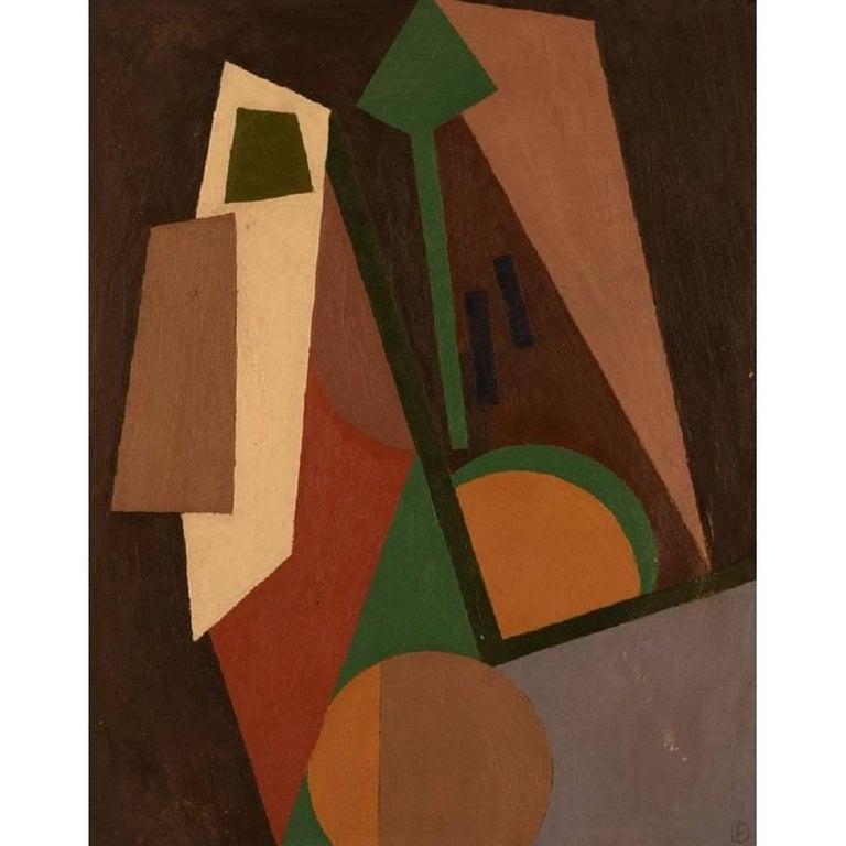 Poul Esting, Composition, 1977, Oil on Plate