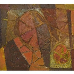 Karsten Winther Listed Danish Artist, Abstract Composition