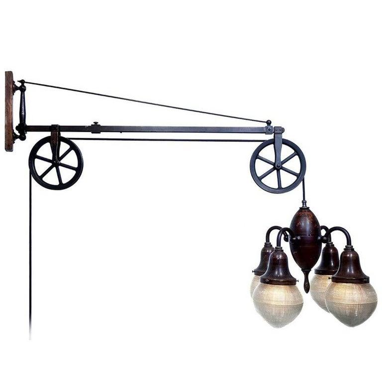 Original Swing Arm Dental Pulley Lamp