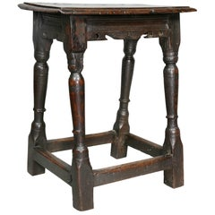 Jacobean Oak Joint Stool
