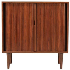 Milo Baughman Tambour-Door Cabinet for Glenn of California