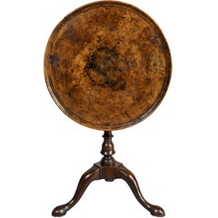 George II Walnut Candlestand
