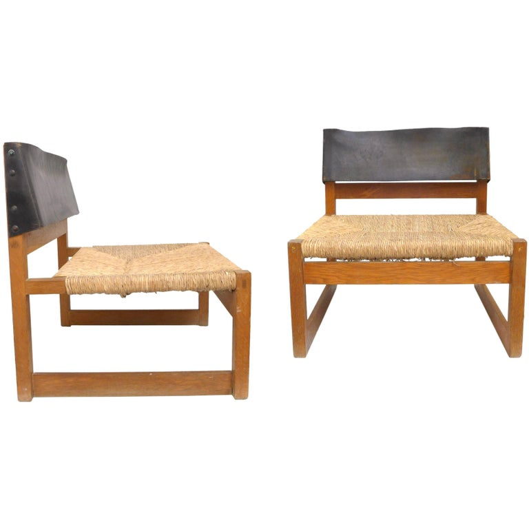 Pair of Lounge Chairs by Javier Carvajal For Sale