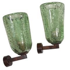 Mid-Century Murano Glass Sconces