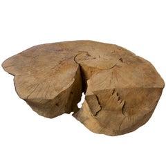 Oak Block Coffee Table