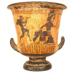 Greek Style '20th Century' Black Figure Painted Terracotta Urn