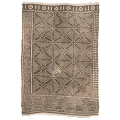 Vintage African Bamana Mud Cloth From Mali 3x4.5