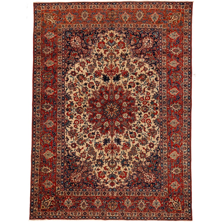 Fine Antique Persian Isfahan Rug