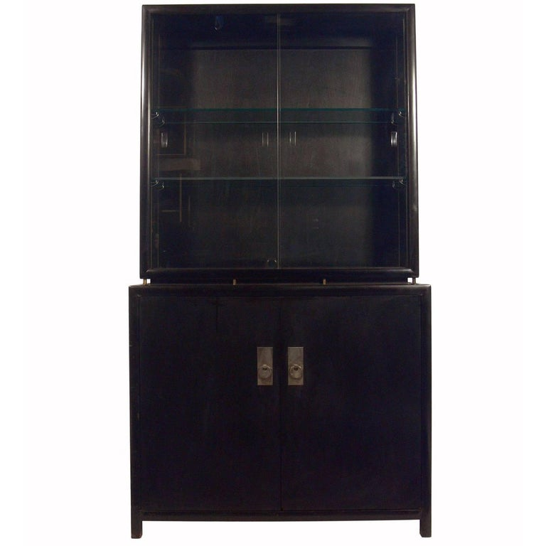 Clean Lined Bar Cabinet or Vitrine by Michael Taylor for Baker