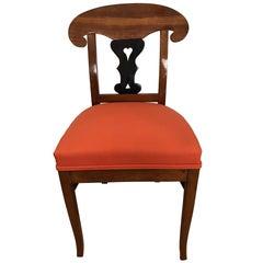 Biedermeier Shovel Chair, Ash with ebonized Heart Decor, East Germany circa 1830