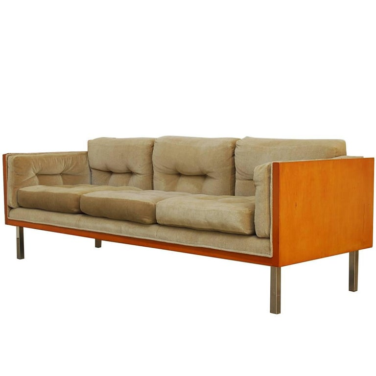 Milo Baughman For Thayer Coggin Case Sofa With Mohair