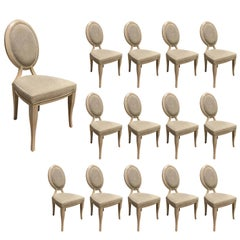 """Set of 14 Dining Chairs by Reagan Hayes """"Cynthia"""""""