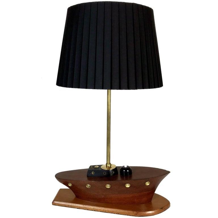 Art Deco Nautical Ship Table Lamp, 1930s, France
