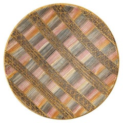 Bitossi Londi Ceramic Pottery Bowl Seta Magenta Gold Signed Italy, 1960s