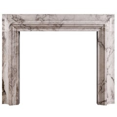 Stylish Italian Fireplace in Arabescato Marble