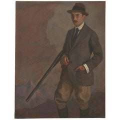 Spanish Oil Painting, Man with Gun