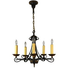 Five Candle Polychrome Chandelier