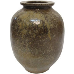 19th Century Japanese Stoneware Sake Jar Vessel