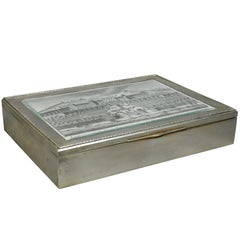 European Silver Box Containing Mother-of-Pearl Counter Chips