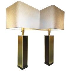 1960s Lightolier Column Lamps, Pair