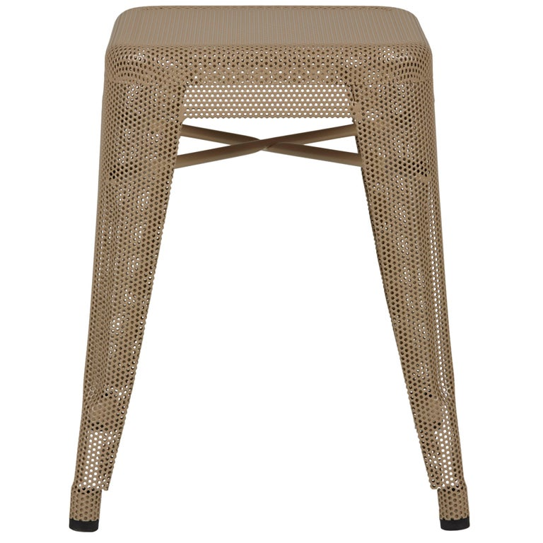 H Stool Perforated 45 In Nutmeg By Chantal Andriot And