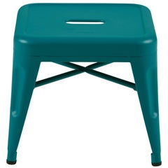 H Stool 30 in Tendance Teal by Chantal Andriot and Tolix