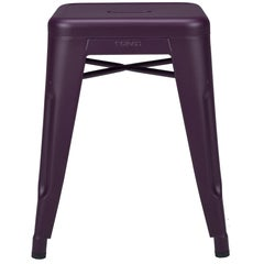 H Stool 45 in Aubergine by Chantal Andriot & Tolix