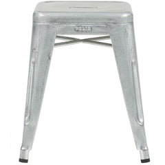 H Stool 45 in Galvanized Steel by Chantal Andriot & Tolix