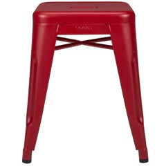 H Stool 45 in True Red by Chantal Andriot & Tolix