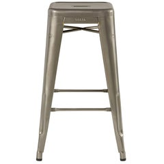 H Stool 70 in Steel with Glossy Lacquer by Chantal Andriot & Tolix