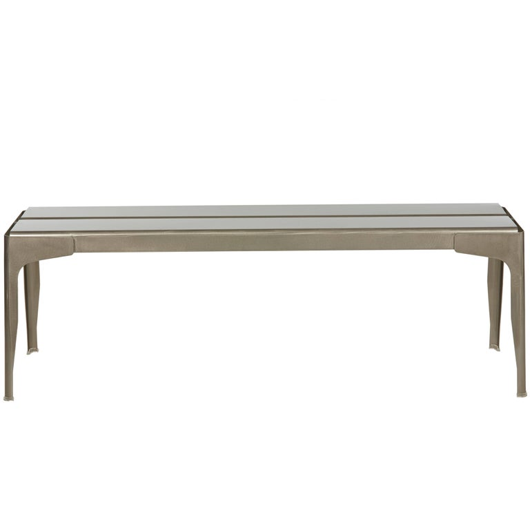 Large Y Bench in Steel with Glossy Lacquer by Normal Studio & Tolix
