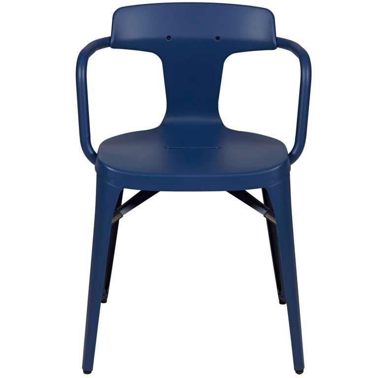 T14 Chair in Blueberry by Patrick Norguet and Tolix