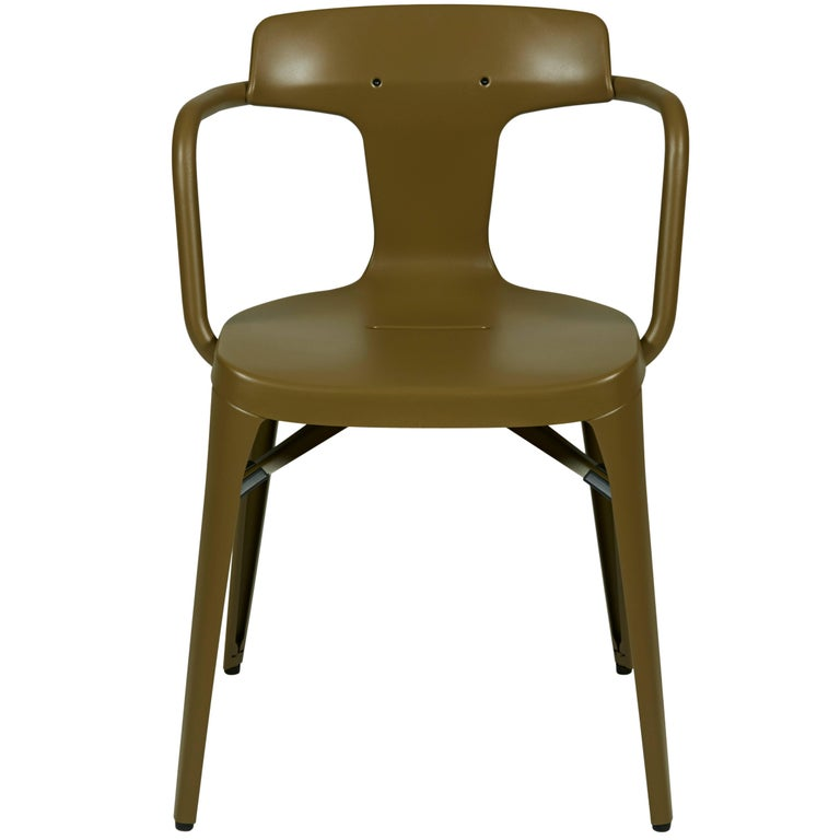 T14 Chair in Khaki by Patrick Norguet & Tolix