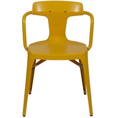T14 Chair in Mustard Yellow by Patrick Norguet and Tolix
