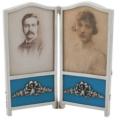 1900s Victorian Sterling Silver Double Photograph Frame