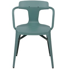 T14 Chair in Sage Green by Patrick Norguet and Tolix