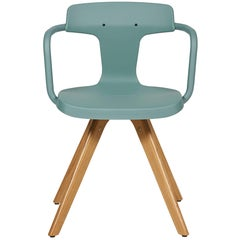 T14 Chair in Sage Green with Wood Legs by Patrick Norguet and Tolix