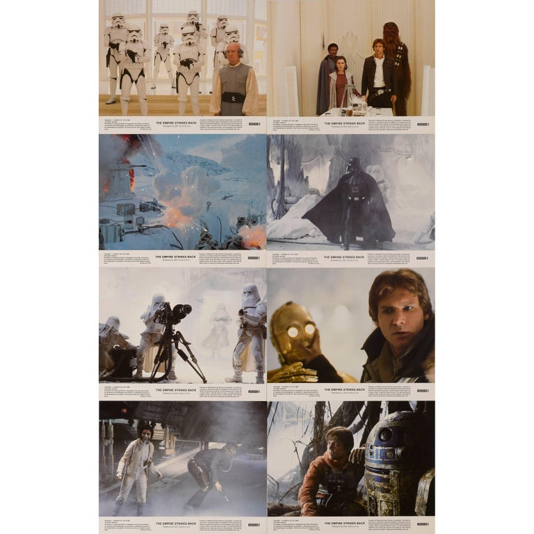 """The Empire Strikes Back"" Set of Eight Mini Lobby Cards For Sale"