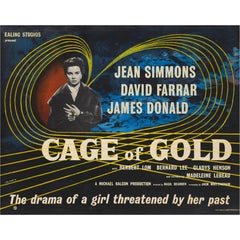"""""""Cage of Gold"""" Original British Film Poster"""