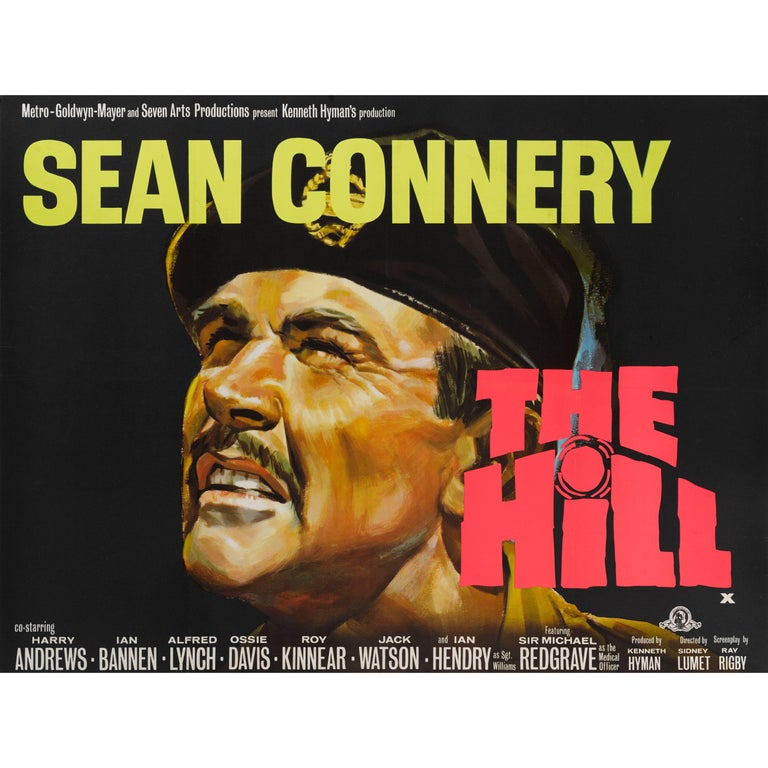 """The Hill"" Original British Film Poster"