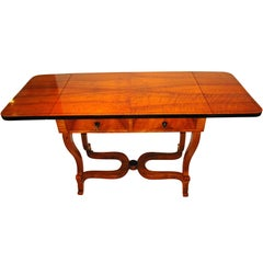 Biedermeier Desk with Expandable Sides, Walnut, South Germany circa 1830