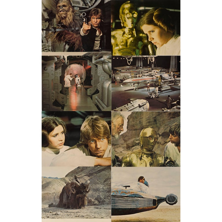 """Star Wars"" Set of Eight Mini Lobby Cards"