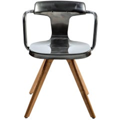 T14 Chair in Steel with Glossy Lacquer and Wood Legs by Patrick Norguet Tolix