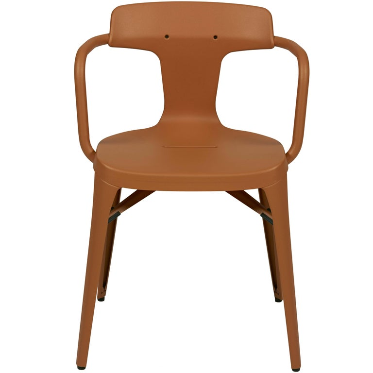 T14 Chair in Terracotta by Patrick Norguet and Tolix