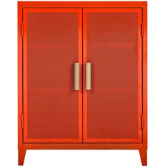 B2 Perforated Low Locker in Orange by Chantal Andriot & Tolix